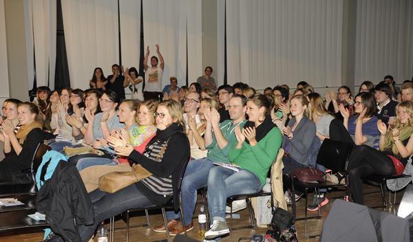 Ein Blick ins Publikum. Foto: Karin Hiller