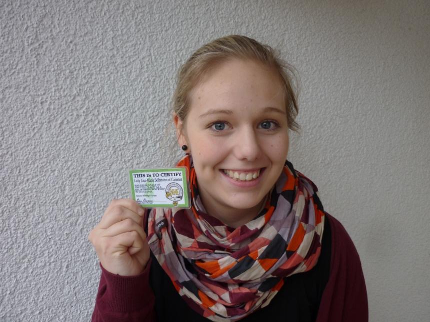 Lisa-Marie Selbmann (22), 5. Semester Lehramt Biologie und Chemie. Foto: Hannah Wagner