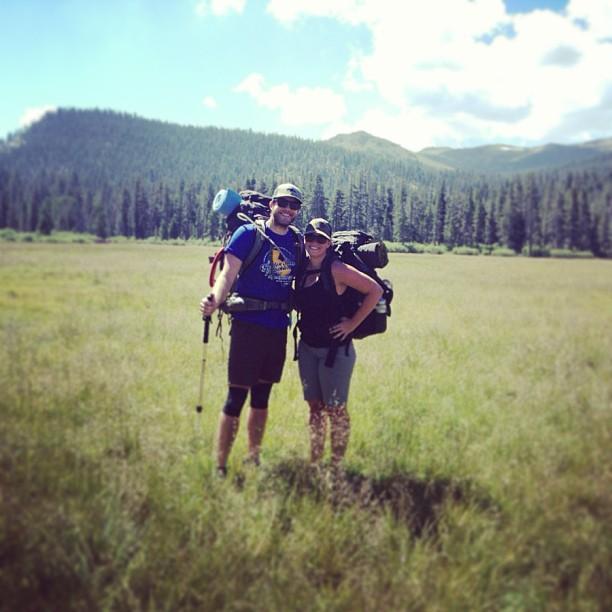 Hier ist Neil Jacobson noch gemeinsam mit Frau Eryka in den Bergen von Kalifornien unterwegs. Seit August bewandern sie gemeinsam den Pfälzer Wald. Foto: Privat