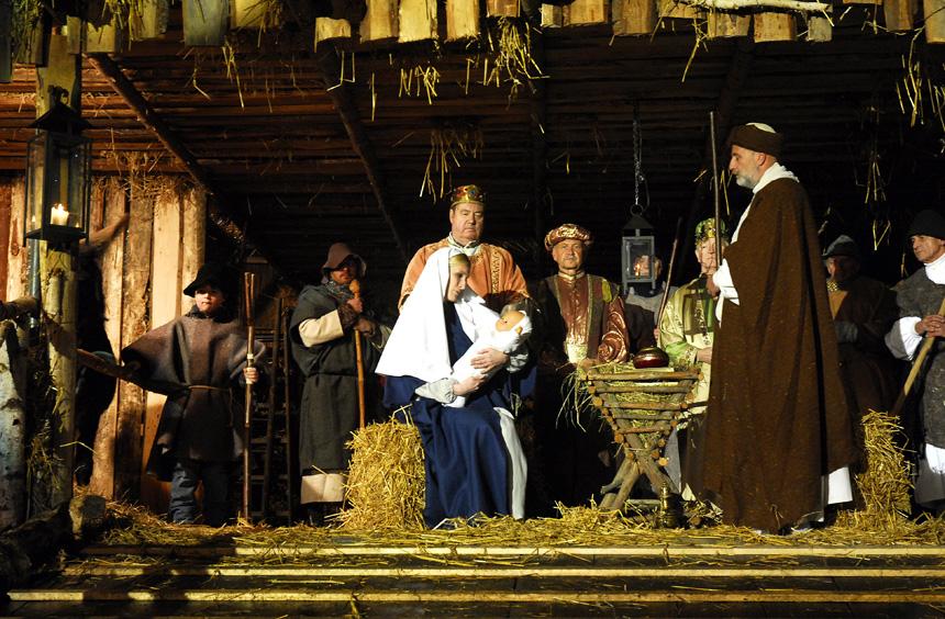 Highlight in Andernach: Die lebende Krippe. Foto: Andernach.net GmbH