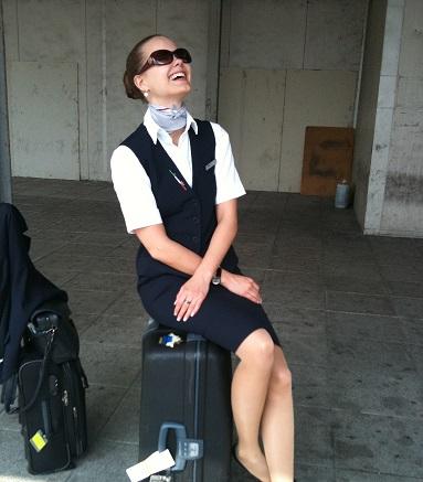 Dietlind Hinsch reist als Flugbegleiterin um die Welt. Foto: Privat