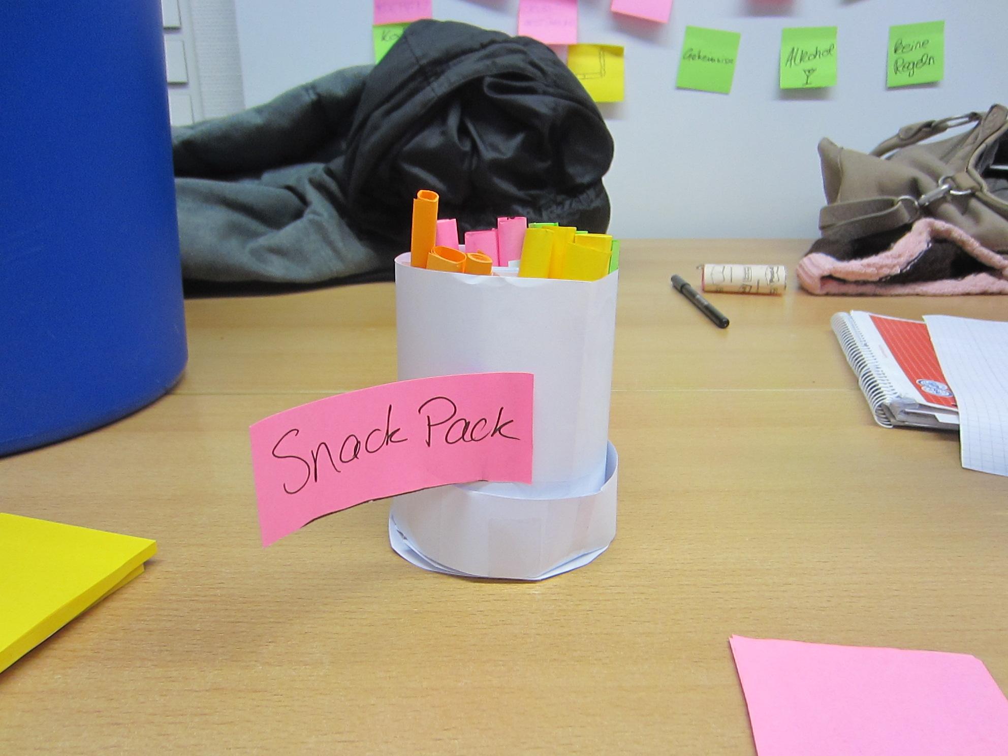 So schnell kann ein Prototyp aus Papier und etwas Fingerfertigkeit entstehen.