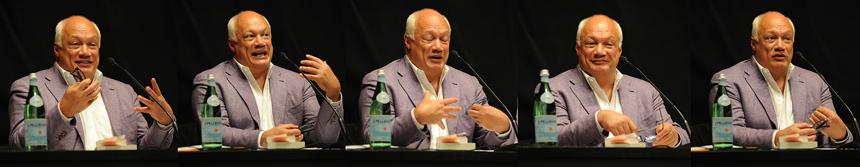 Éric-Emmanuel Schmitt ist Inhaber der 6. Poetik-Dozentur. Fotos: Karin Hiller