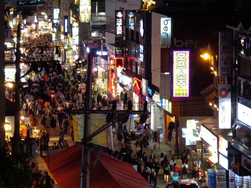 Hongdae, das Universitätsviertel von Seoul. Foto: Privat