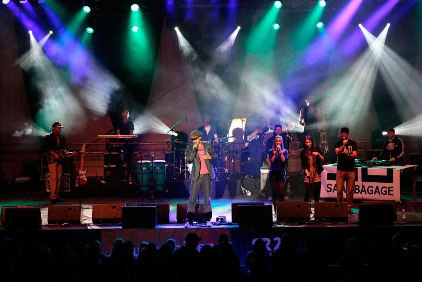 """Den Höhepunkt ihrer Bekanntheit erreichte die Band als Okuesa 2009 bei """"Schlag den Raab"""" antrat. Foto: Musopia Music"""