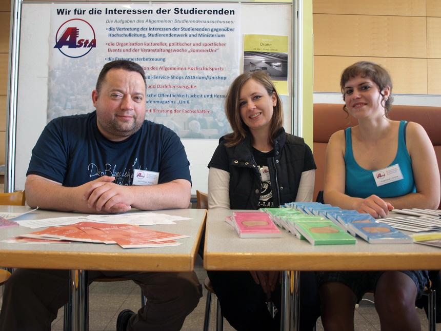 Auch der Asta stand den potentiellen Studierenden wieder als studentischer Ansprechpartner zur Verfügung.