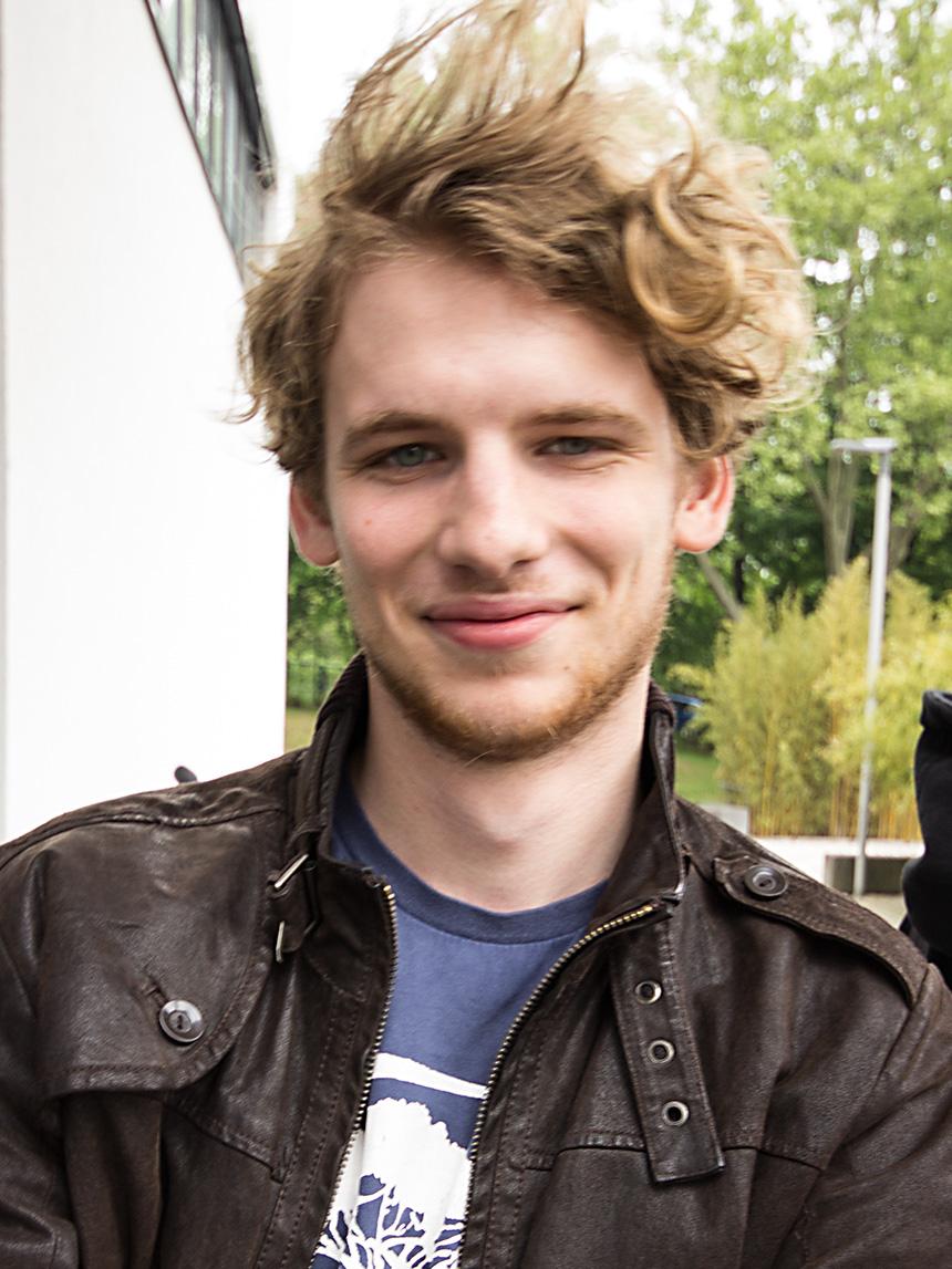 Phil Bruhn (21), Lehramt Deutsch und Englisch. Foto: Adrian Müller
