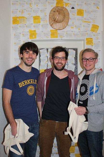 Die Jungs von Jute Sache (von links nach rechts): Patrick, Johannes und Niklas Foto: Jute Sache
