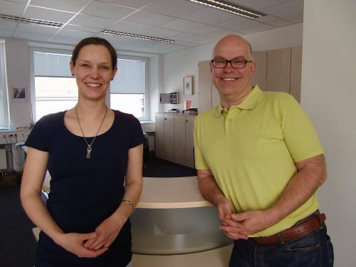 Dr. Jens Heider und Dr. Katharina Köck leiten das neue Behandlungsangebot der Psychotherapeutischen Universitätsambulanz Landau. Foto: Greb