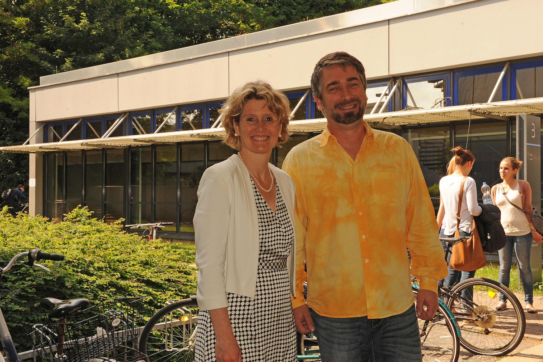 Als Referentin zu Gast in der Vorlesung von Hermann Jungkunst: Die rheinland-pfälzische Wirtschaftsministerin Eveline Lemke. Foto: Hiller.