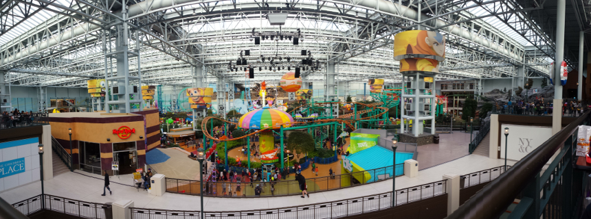 Der Freizeitpark in der Mall of America.