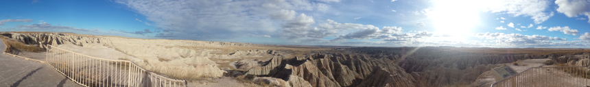 Die Badlands in South Dakota.