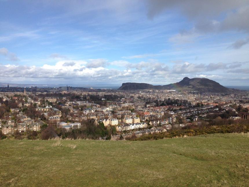 Blick auf Edinburgh, der Hauptstadt an der Ostküste Schottlands. Foto: Privat