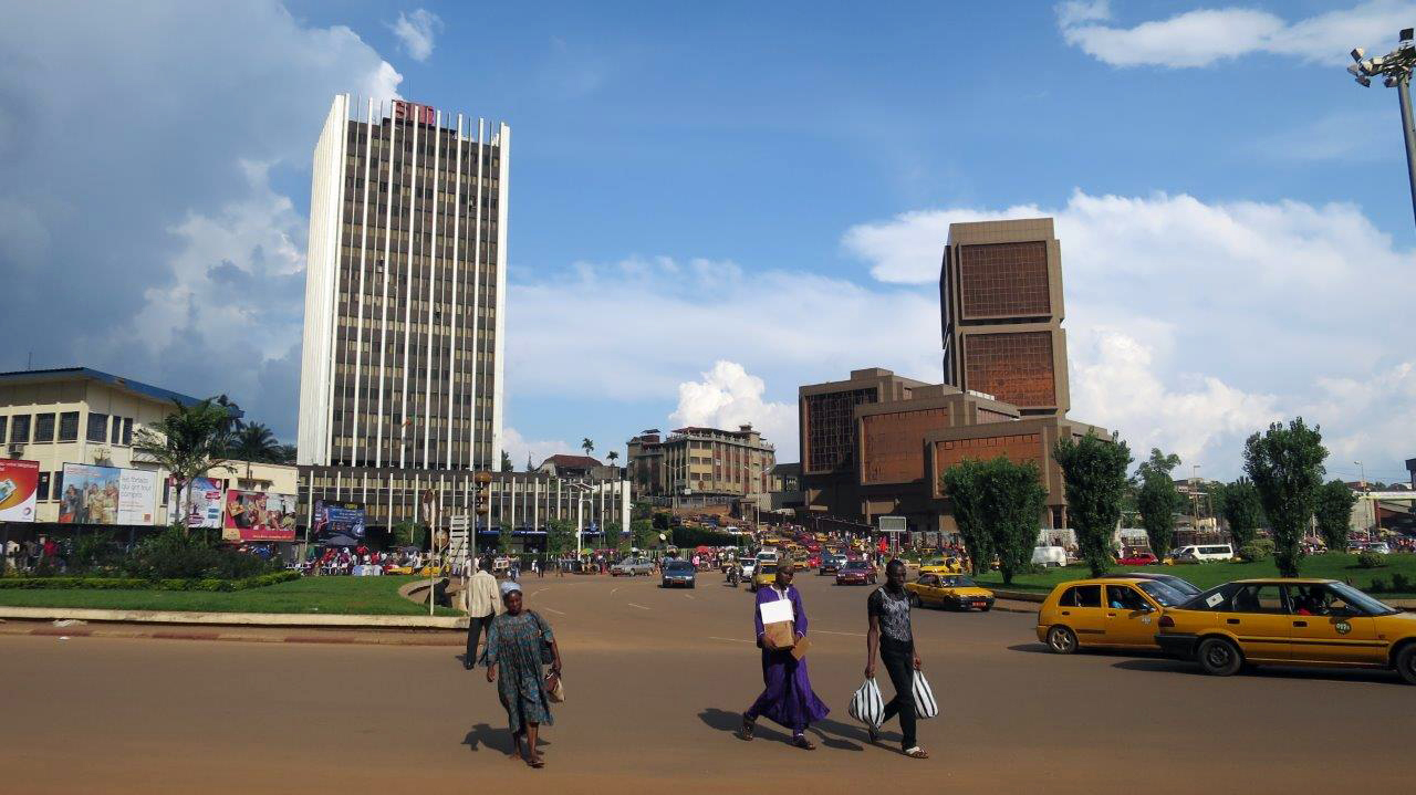 Die Innenstadt von Yaoundé, der Hauptstadt Kameruns.