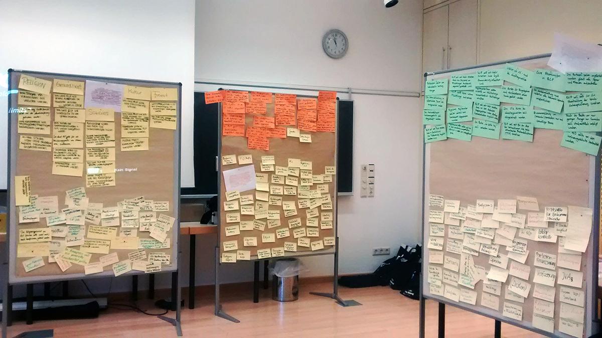 Die Entwicklung der 78 Thesen in fünf Themenbereichen erfordert gute Organisation. Foto: Pauly.
