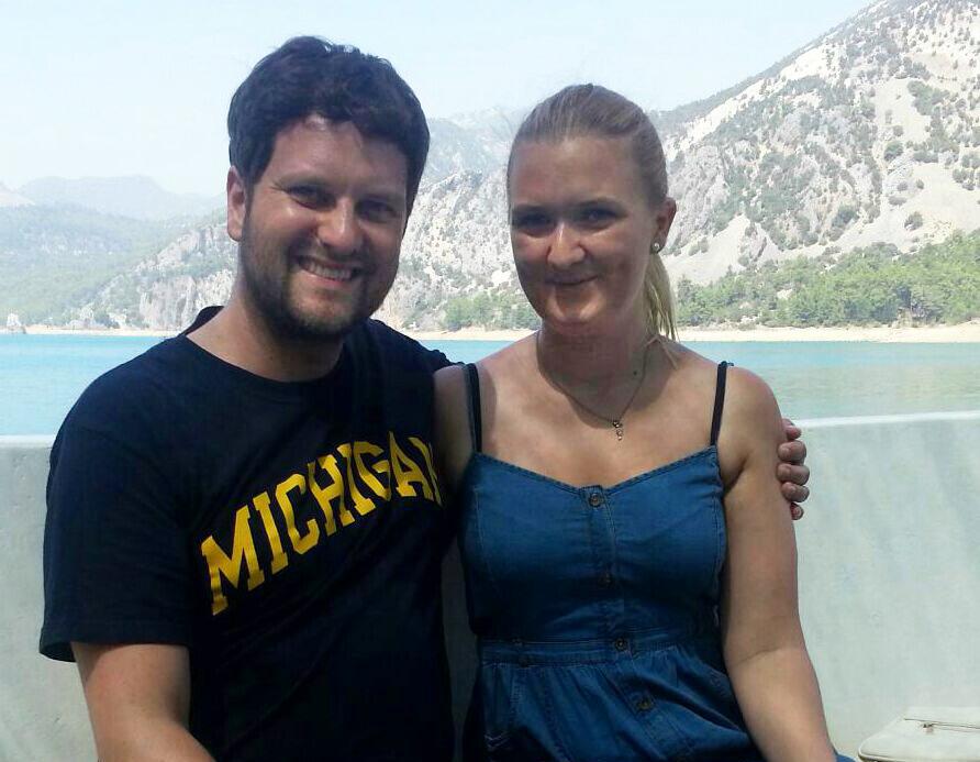 Anna Klyta, MA. Sozial- und Kommunikationswissenschaften, 2. Semester und Mark Plotzky. Foto: Privat
