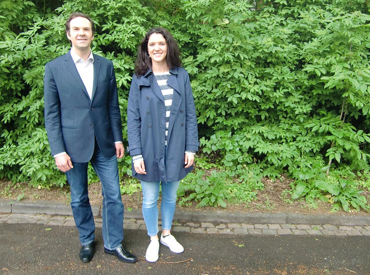 Dr. Ulrich Ufer und Caroline Mohr koordinieren am Campus Landau den Aufbau der SERIOR Graduate Academy an sechs Universitäten in Deutschland, Frankreich und der Schweiz. Foto: Greb.